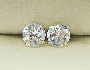 SILVER-STUD-EARRINGS-5mm-ROUND-CREATED-DIAMOND-BRIOLETTE-CUT-STONE-sk942