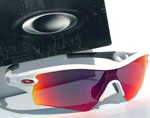 NEW-Oakley-RADAR-Path-White-Bike-w-Ruby-Red-Iridium-lens-Sunglass-w-case-09-768
