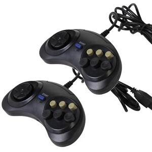 2-X-6-Button-Game-Controller-for-SEGA-Genesis-Black