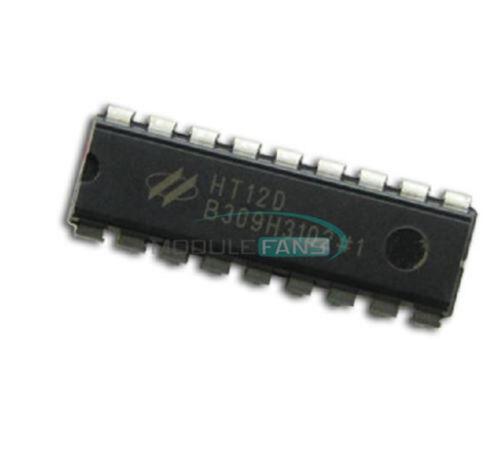 5PCS Hotek HT12D DIP 18 HT-12D HT12D Remote Decoder  DIP-18 IC