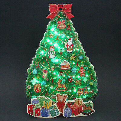 illuminated christmas tree w gifts lights and melody pop up greeting card - Pop Up Christmas Tree With Lights