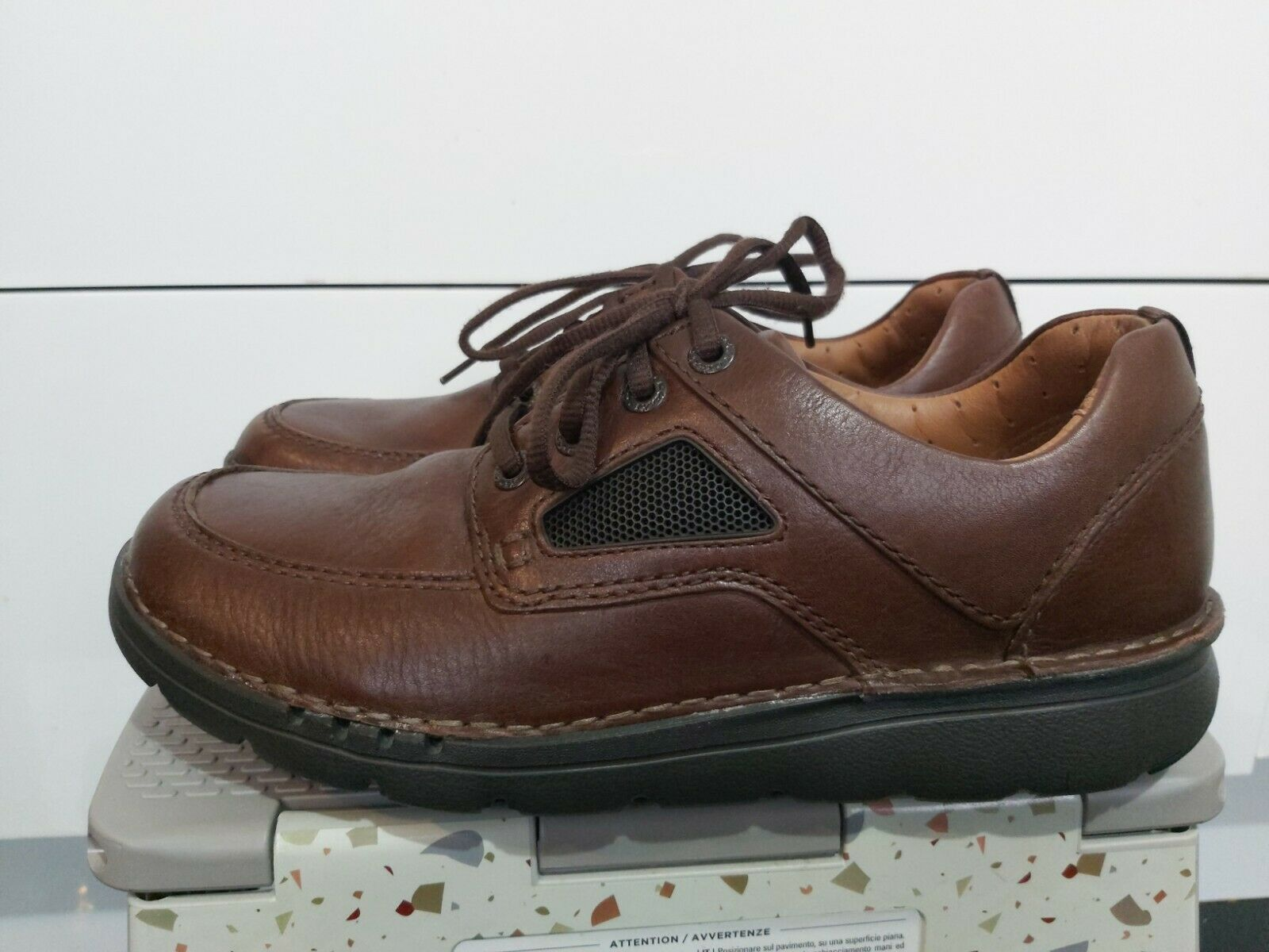 Clarks unstructured mens Comfort shoes Leather Brown UK 8.5 G