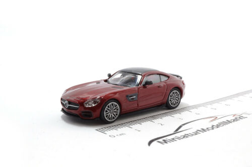 2015-1:87 Minichamps Brabus 600 Mercedes AMG GT S Rot Metallic #870037321