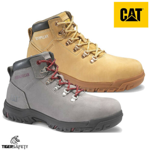 Caterpillar CAT Mae S3 SRA Ladies Waterproof Nubuck Steel Toe Cap Safety Boots