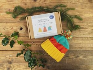 Woolly Hat Knitting Kit   BRIGHT COLOURS   knitting for a change