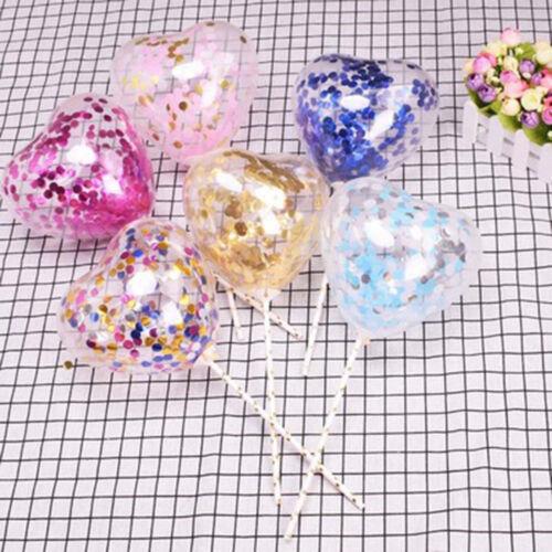 d/'anniversaire gâteau insérer le latex ballon de confettis ruban de paille