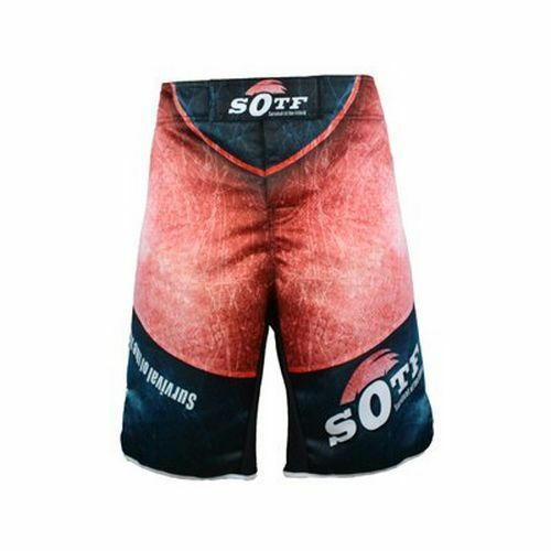 MMA Tiger Boxing Cotton Training Kickboxing Box Men Fight Muay Thai Shorts Red