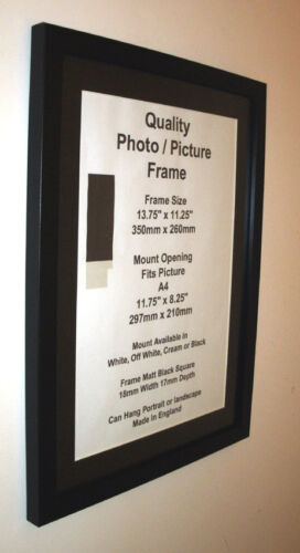 Cadre photo noir 19mm mont 8x8 8x6 6x7 x 9 6x11 6x10 7x7 7x9 7x10