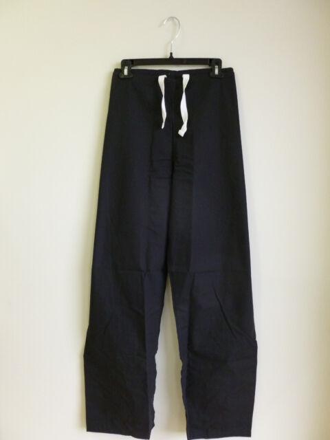 4811a1074f1 Scrub Pant Relaxed Straight Leg Drawstring Waist Landau Black #9502 PXXS-TLG