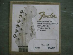 Vintage Fender Mastersound Guitar String in Original Package.  Fullerton CA