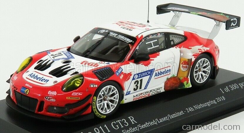 Minichamps 413186731 scala 1 43 porsche 911 991 gt3 r frikadelli racing team n