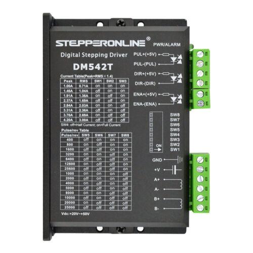 Digital Motor de Pasos Driver 1.0-4.2A 20-50VDC Nema 17,23,24 CNC Stepper DM542T