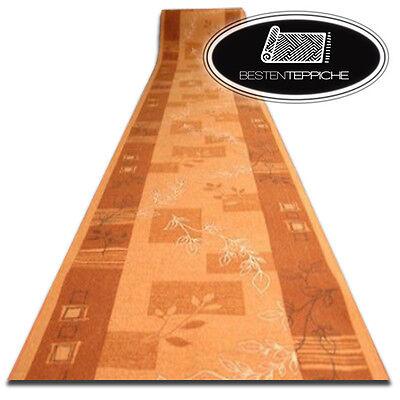80cm Modernen Preiswert Antirutsch Läufer AW BURLY Terrakotta Breite 67