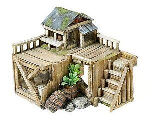 Wooden corner house hut cabin plants aquarium ornament for Aquarium corner decoration