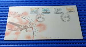 1991 Singapore First Day Cover Civil Aviation History Commemorative Stamp Issue