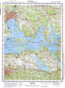 Russian Soviet Military Topographic Maps VASTERAS Sweden1100