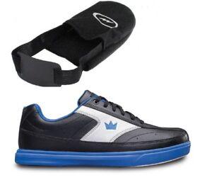 Mens Brunswick RENEGADE Bowling Shoes Black//Blue Sizes 6-15