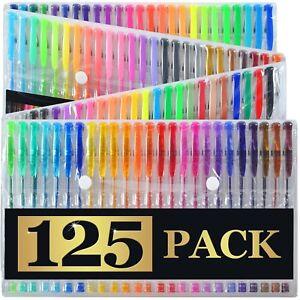 125-Gel-Pens-Carrying-Case-XL-Set-125-Individual-Colors-No-Duplicates