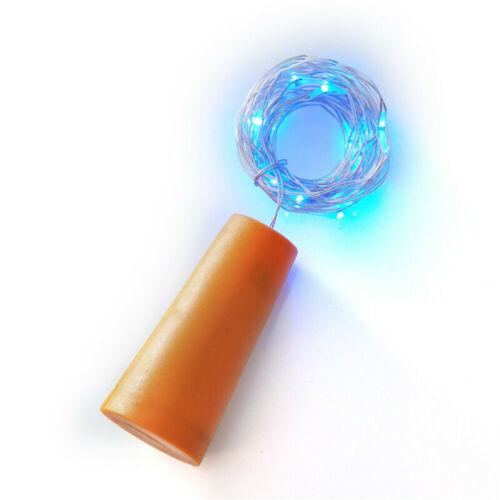 New Bottle Stopper Fairy String Lights Wine//Gin Battery Cork Shaped Top 20 LEDs