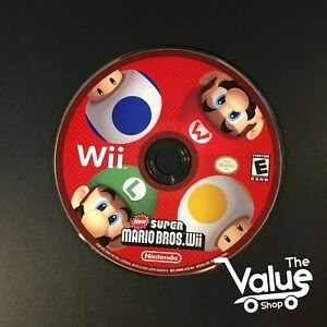 New-Super-Mario-Bros-Wii-Nintendo-Wii-2009-Disk-Only
