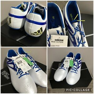 8d3bceb057a Adidas Messi 15.2 FG AG Football Boots White Blue Mens UK Size 11 ...