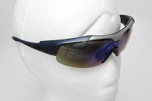 IZE-Sport-Golf-Impact-Resist-Polycarbonate-Sunglasses-Wrap-Style-Blue-Silver-New