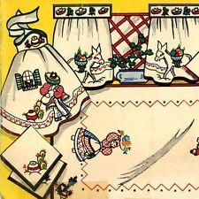 Vintage Embroidery Transfer 106 Mexican Fiesta Senior Seniorita Burro Sombrero