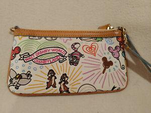 Women-Dooney-amp-Bourke-Disney-Sketch-Wristlet-Tinkerbell-Dumbo-Chip-Dale