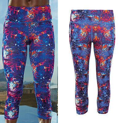 Gym Stretch At All Costs tr301 Tridri Women's Performance 3/4 Length Fireworks Leggings