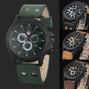 New-Men-Business-Watch-Luxury-Leather-Strap-Sport-Quartz-Army-Watch