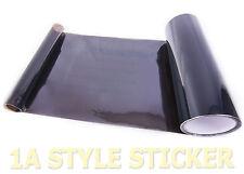Scheinwerfer Folie Tönungsfolie TIEF SCHWARZ 100cm x 30cm dark Black tint venyl