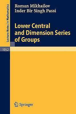 1 of 1 - Lower Central and Dimension Series of Groups (Lecture Notes in-ExLibrary
