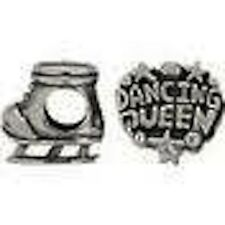 Miss Rhona Sterling Silver Spacer Beads Dancing Queen And Ice Skate*Brand New