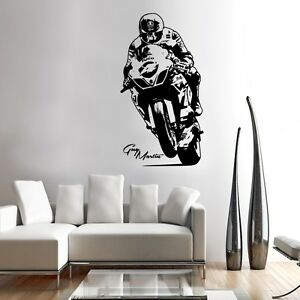 Genial Image Is Loading Guy Wall Art Motorcycle Racer Decal Graphic Adhesive