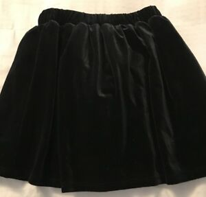 03183c4f4f5 Girls Place Black Velvet Mini Skirt Mid Thigh Size S 5/6 Lined Pull ...