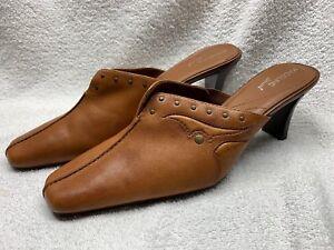 fa96f014e Womens Madeline Stuart  Dalia  Brown leather slip on Heels Size 8.5M ...