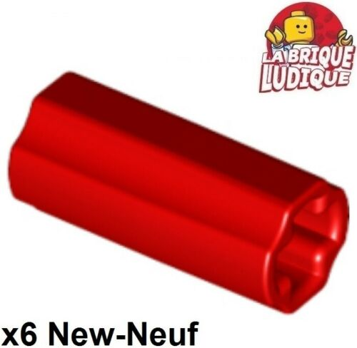 6x Axle Axle Connector Red//Red 6538c New Lego Technic