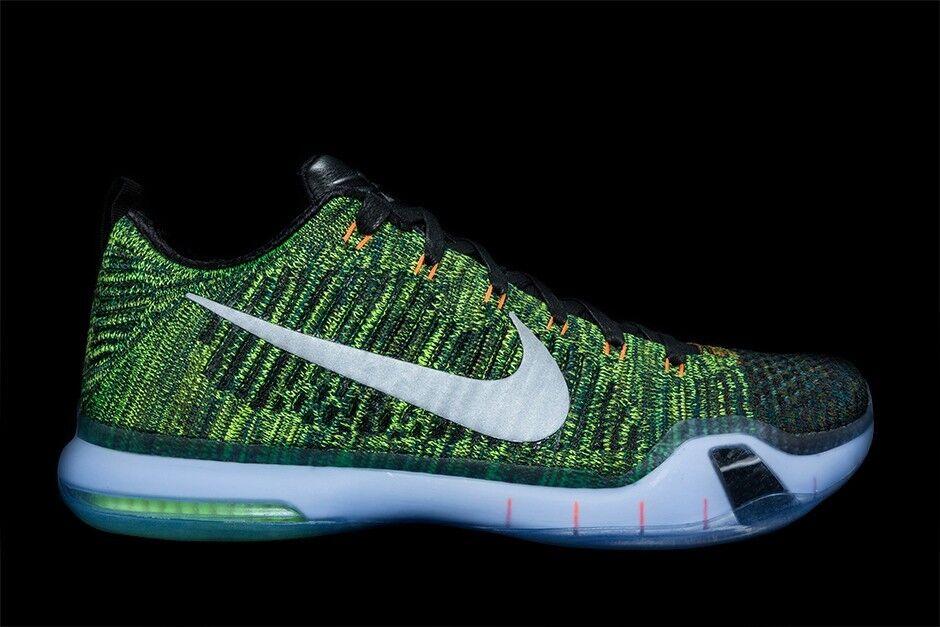 Nike Kobe 10 X Elite Low PRM Racecar Green Flyknit Size 12. 805937-900 jordan kd