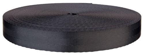 1 Inch 3 Panel Indigo Black Lite Weight Polyester Webbing Closeout 25 Yards