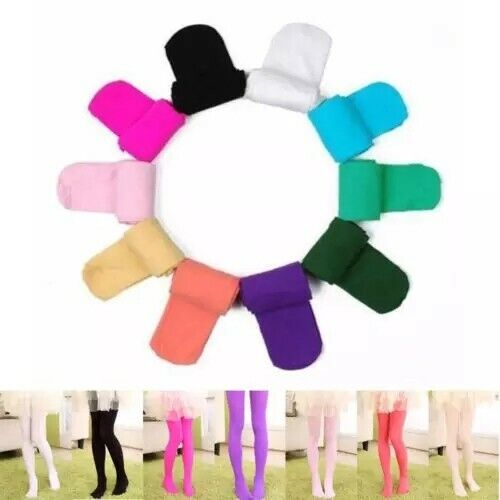 Kids Pants Stretch Ballet Dance Opaque Tights Pantyhose Solid Hosiery Stockings