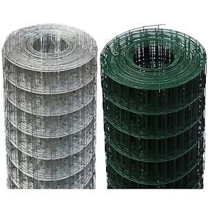 Rete X Recinzione.Dettagli Su 25 Mt Rete Reti Recinzione Metallo Elettrosaldata Plastificata Zincata 75 X 50 M