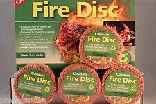 4 PK FIRE STARTER DISK WATERPROOF CEDAR EMERGENCY USE WITH HEXAMINE ESBIT STOVE