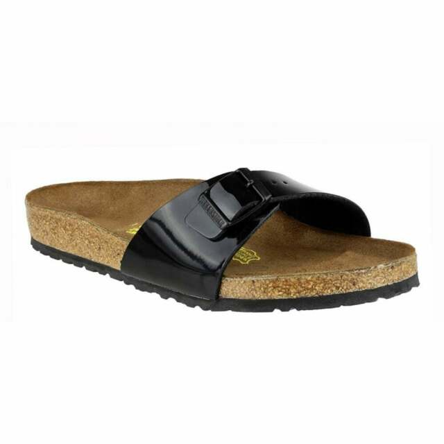 9ada8e818636 Birkenstock Women's Madrid Sandals Mules Regular Fit Black Patent UK ...