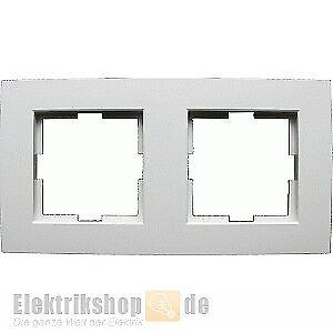 Viko Karre 2-fach Rahmen reinweiß EGB VIKO für Unterputz Schalter und Steckdosen