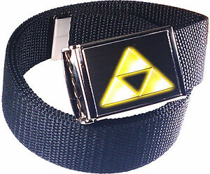 Zelda-Triforce-Logo-Belt-Buckle-Bottle-Opener-Adjustable-Web-Belt