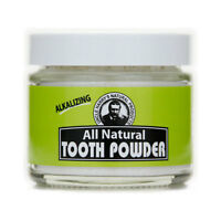 Uncle Harry's All Natural Tooth Powder - Fluoride Free (2 Oz Glass Jar)