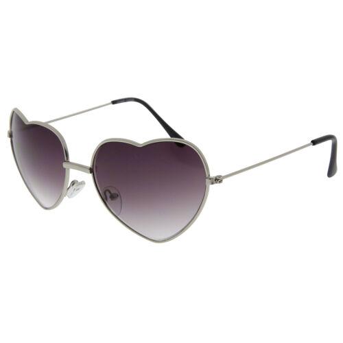 Vintage Retro Fashion Lolita Heart Shaped Aviator Metal Frame Women Sunglasses