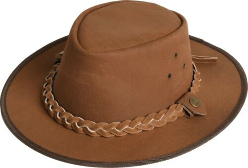 "CAPPELLO Western country cowboy in pelle /""Hooley/"" Scippis Earth Marrone Tan Nero"