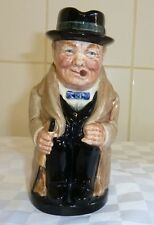 Vintage Royal Doulton Toby Jug Winston Churchhill Early Back Stamp No Number