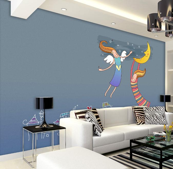 3D Fliegendes Engel Mädchen 84 Tapete Wandgemälde Tapete Tapeten Bild Familie DE   Hohe Qualität    Verpackungsvielfalt    Nicht so teuer